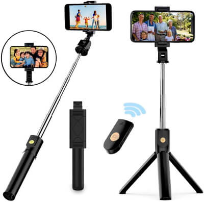 NUATE High Protective Selfie Stick for the iOS Device