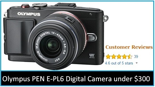cool Olympus PEN E-PL6 Digital Camera 2015 under $300