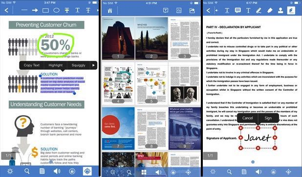 Edit PDF on iPhone, iPad with iOS 9 or iOS 8