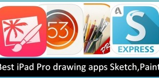 Free best iPad Pro drawing apps useful as professional and practice 2015-2016
