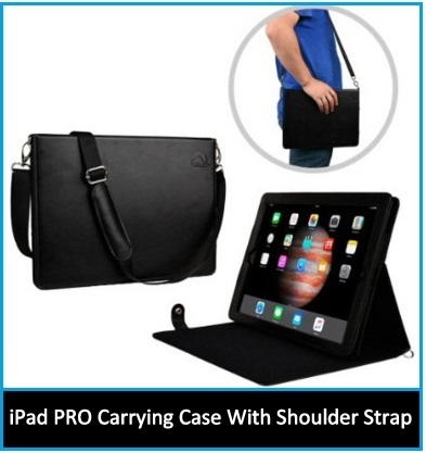 iPad Pro 12.9 inch carrying case with handle and shoulder strap