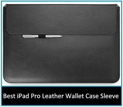 iPad Pro leather wallet sleeve