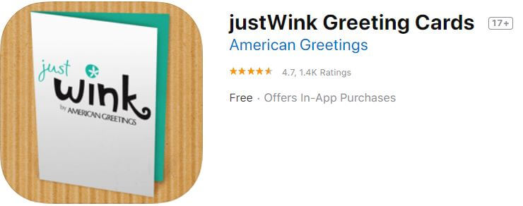 justWink Christmas Greeting Cards for iPhone