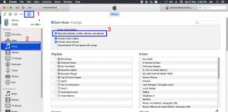 sync iTunes playlist to iPhone, iPad and iPod Touch