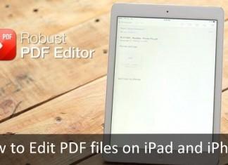 Edit PDF files on iPad and iPhone: PDF Editors