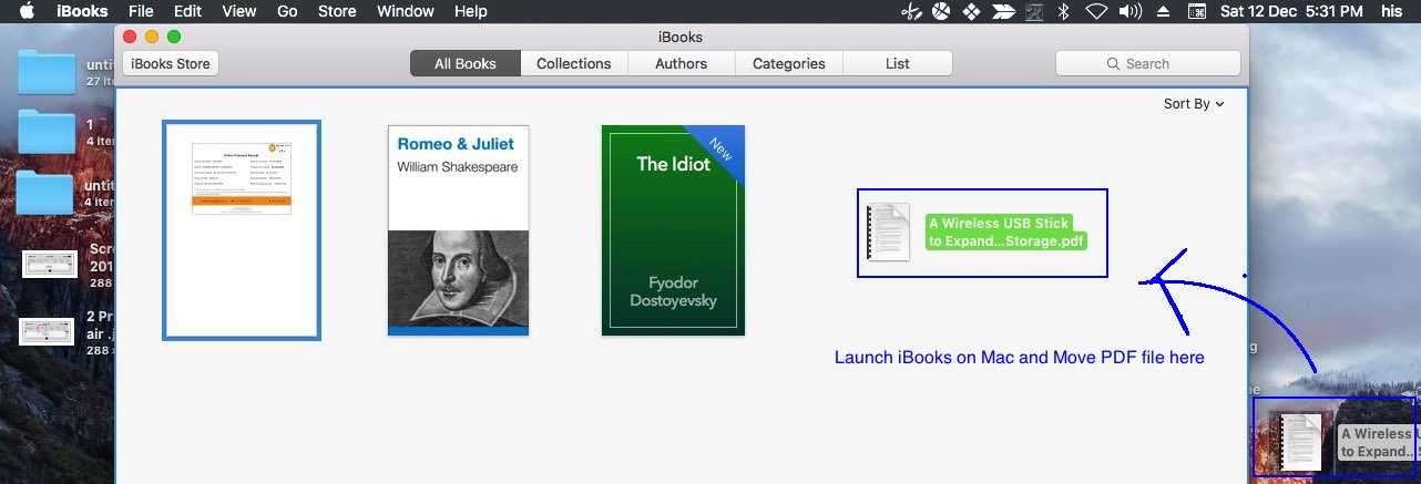 iBooks won't sync PDF file from Mac to iPhone and iPad
