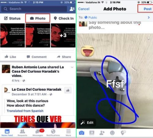 Post live photos on Facebook iPhone with iOS 9