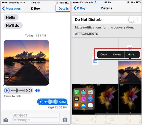 Find details of your friends located in iMessage