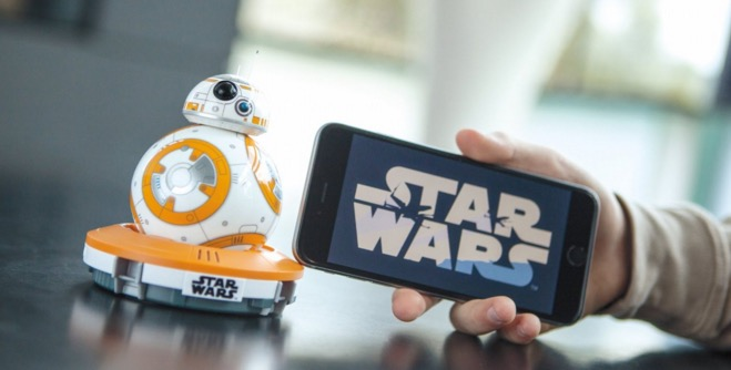 iPhone controlled star Wars droid BB 8