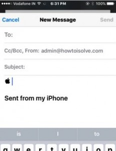 how to type Apple logo  from iPhone, iPad in Mail or text message