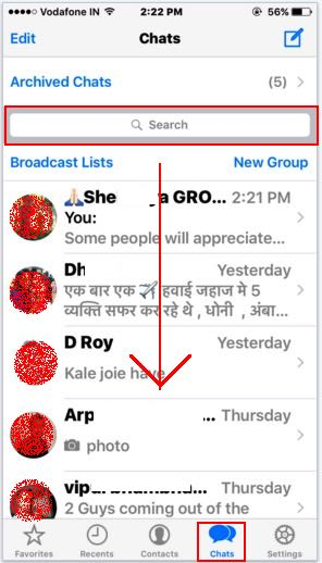 Find group from whatsapp chat