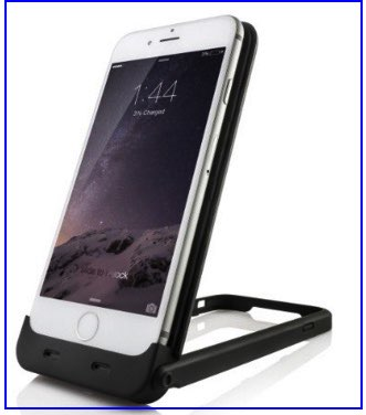 Battery case and stand feature iPhone 6S case