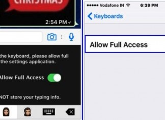 Allow Full Access for keyboard from iPhone, iPad