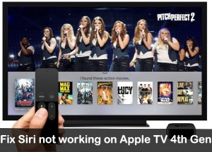 How to Fix Siri Not working on Apple TV 4th Generation or ATV 5th Generation