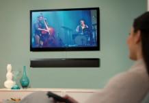 A sleek Sound bar Speaker System atv 4