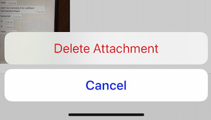 Delete all photos from iPhone message conversation