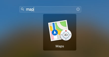 Maps app on Mac-min