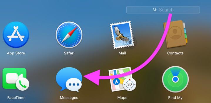 Messages open on macbook mac