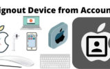 Signout Device from Apple ID or iCloud Account