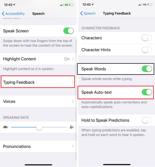 Turn off Voice auto text on iPhone