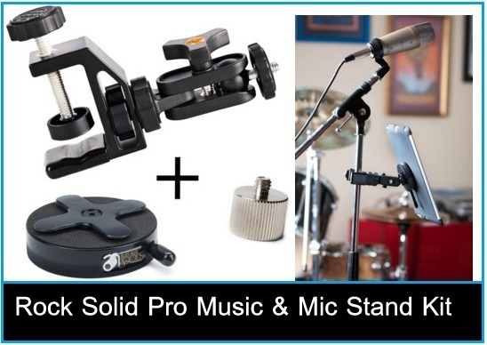 iPad pro musician Rock Solid pro Music & Mic Stand kit