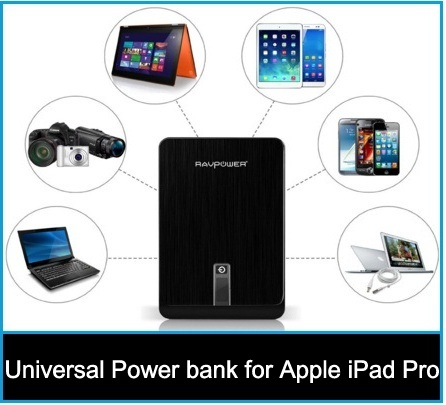 Universal Power bank for iPad Pro: 12.9-inch tablet