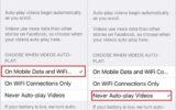 How to turn off Autoplay facebook video on iPhone iOS 9, iPad Air, ipad mini app