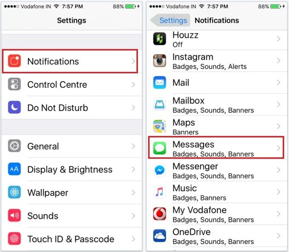 turn off repeat message alert on iPhone Two-minute interval