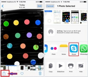 How to Share iPhone Photo with Skype friends