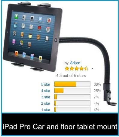 great iPad Pro Car and floor tablet mount