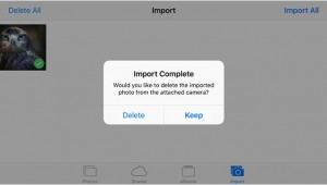 import videos/ photos from camera reader to iPhone, iPad
