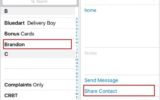 Share iPhone contact with Whatsapp app