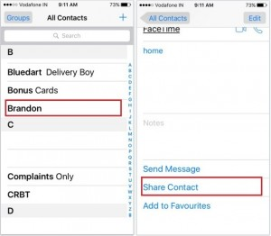 How to Share iPhone contact with Whatsapp app