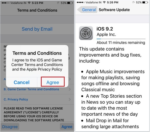 Software download iOS 9.2 install on iPhone 6S, 6S Plus, 5S, iPad Air