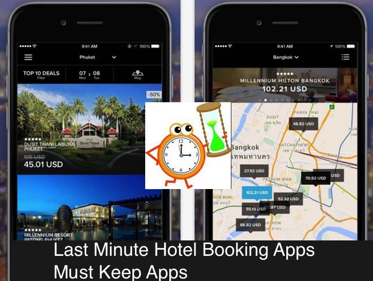 last minute hotel booking iOS app - last minute flight deals app
