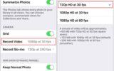 change iPhone camera resolution settings