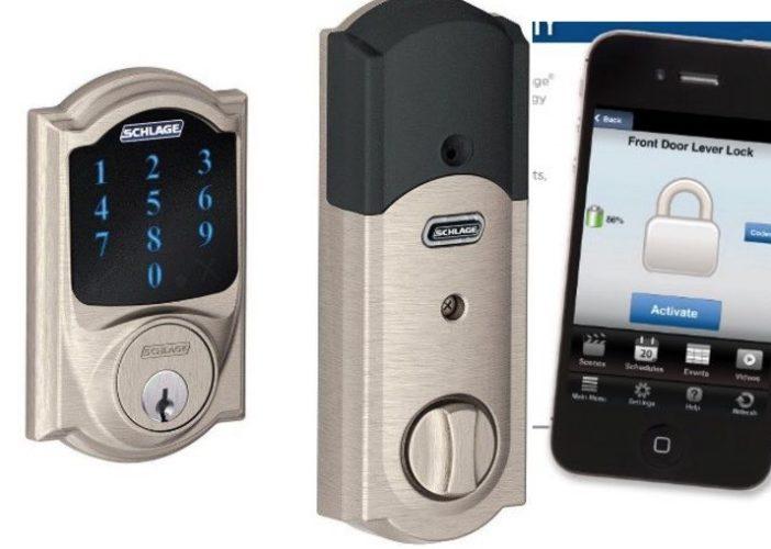 Schlage iOS cntrolled door lock opener and closer