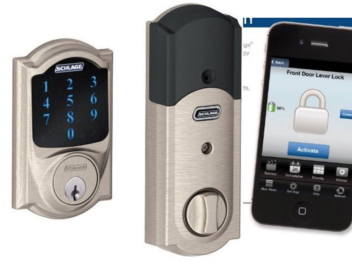 Schlage iOS cntrolled door lock opener and closer