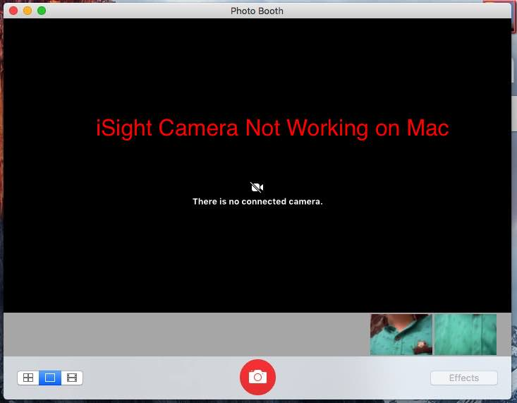 iSight camera not working on Mac, MacBook, Pro, Air