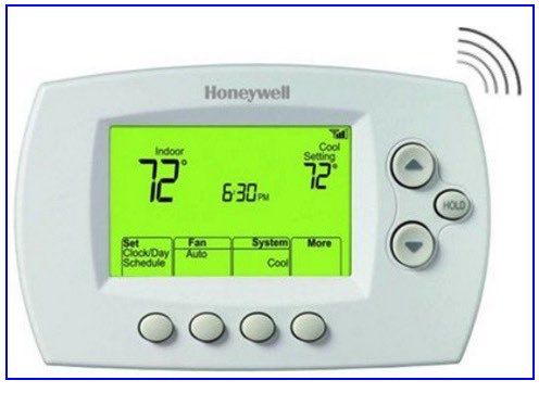 remote controlled HoneyWell thermostate