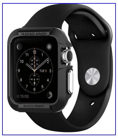 Apple watch bumper case by spigen