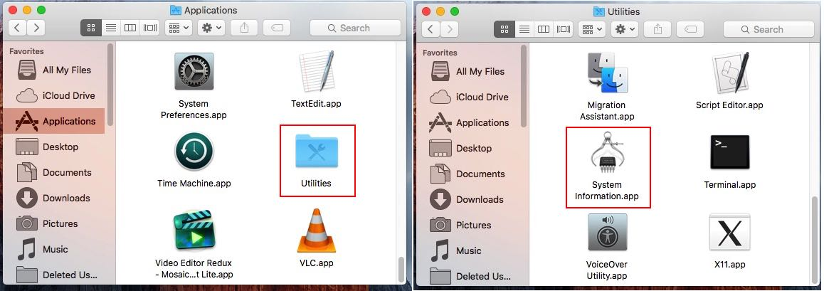 Utility Folder in Mac Application folder