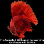 Fix Animated Wallpaper not working on iPhone 6S, 6S Plus [How to]