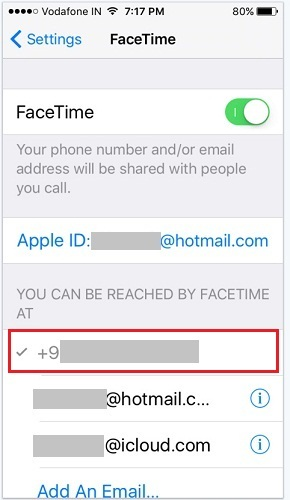how to do Facetime on iPhone 6S