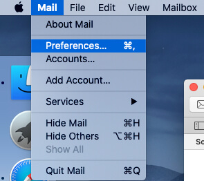 Mail Preferences on Mac