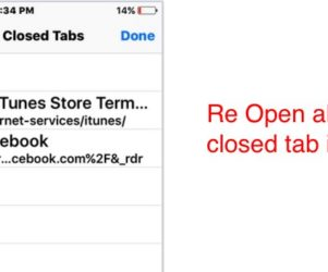 recently closed window in safari app
