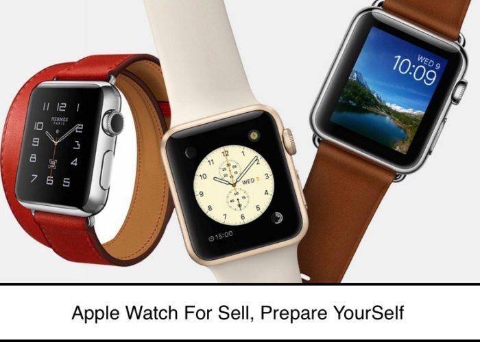 Prepare apple watch for sell own self