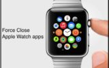 force close apple watch app manually