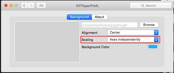 Gif image as a Desktop background on Mac OS X, iMac, MacBook