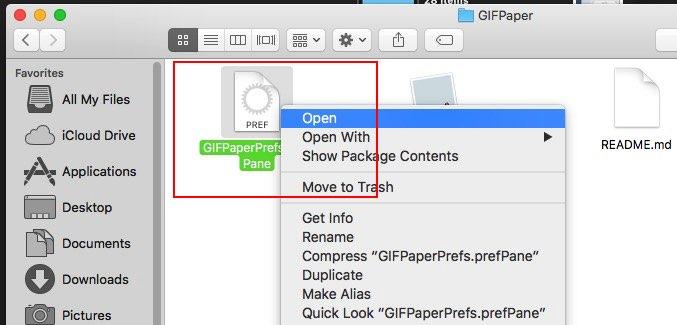 install app on Mac OS X